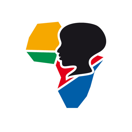 hunger: Vector sign hunger in africa