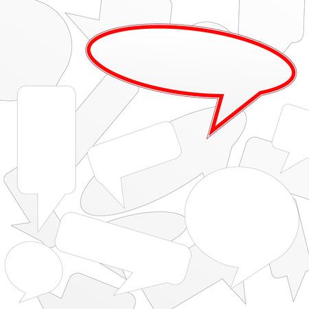 discourse: Vector speech labels Illustration