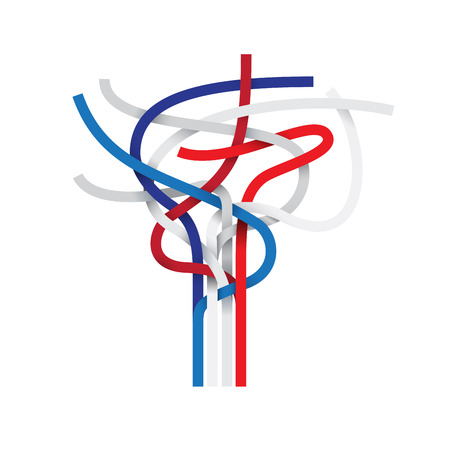 node: Vector sign abstract node, french and english flag