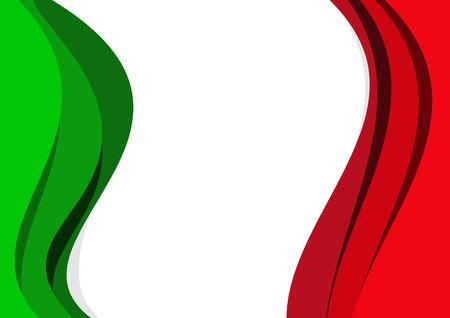 Resumen de vectores de fondo de la bandera italiana y mexicana