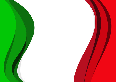 Vector abstract italian and mexican flag background