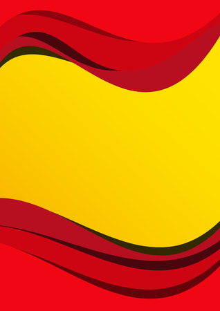 Vector abstract spanish flag background
