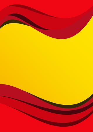 spanish flag: Vector abstract spanish flag background
