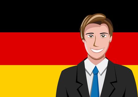 interpreter: German people front of the flag Illustration