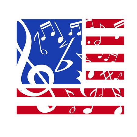 american music: Vector sign american music