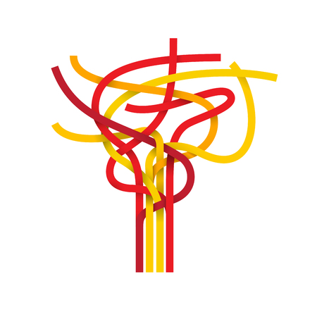node: Vector sign abstract node, spanish flag