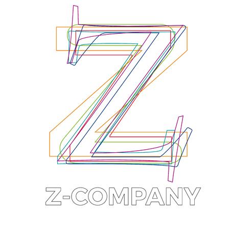 letter z: Vector sign linear letter Z Illustration