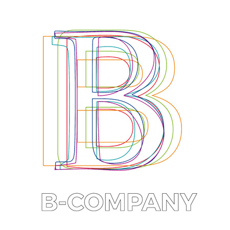 Vector sign linear letter B