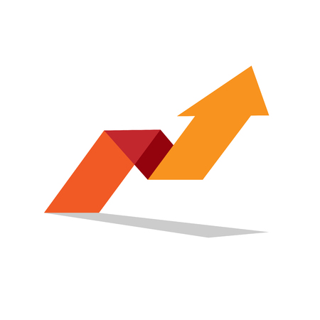 up arrow: Vector sign arrow up. Concept of innovation