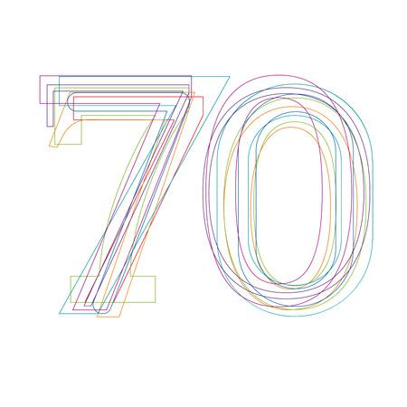 70: number 70 in outline