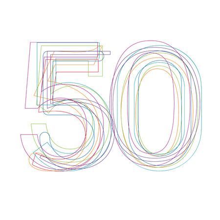 50: number 50 in outline