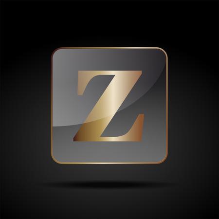 letter z: Vector button letter Z Illustration