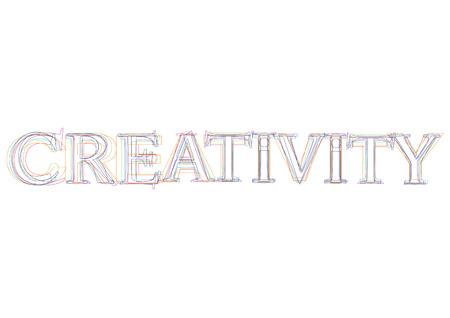 creativity: Vector word Creativity Illustration