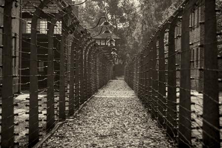 nazi: OSWIECIM, POLAND - AUG 18: Nazi concentration camp Auschwitz I on August 18 2015 in Oswiecim, Poland.