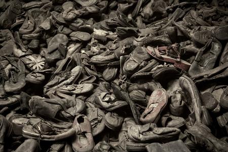 barrack: OSWIECIM, POLAND - AUG 18: Nazi concentration camp Auschwitz I on August 18 2015 in Oswiecim, Poland.