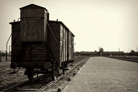 auschwitz: OSWIECIM, POLAND - AUG 18: Nazi concentration camp Auschwitz I on August 18 2015 in Oswiecim, Poland.