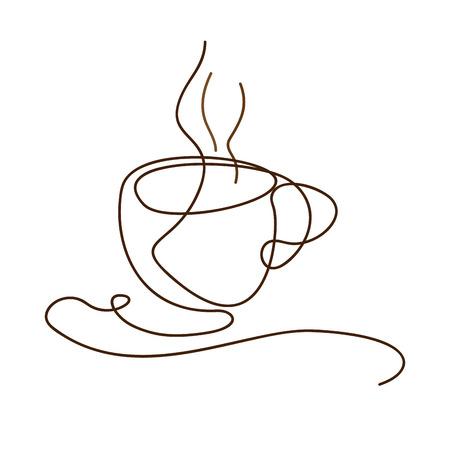 Vector teken koffiepauze