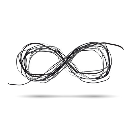 Vector de la muestra del garabato del infinito