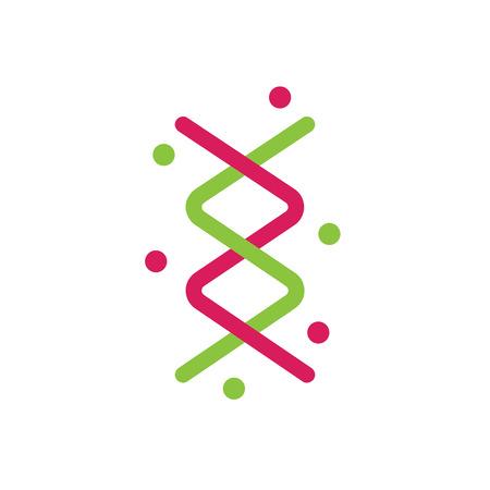 genetica: Vector segno del DNA e la genetica