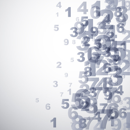 numbers abstract: Vector Abstract numbers background