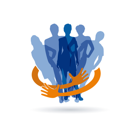 teamwork: Vector sign Safe Teamwork