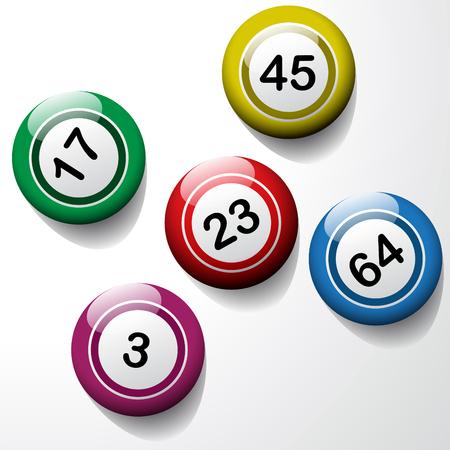 numbers clipart: Vector bingo background