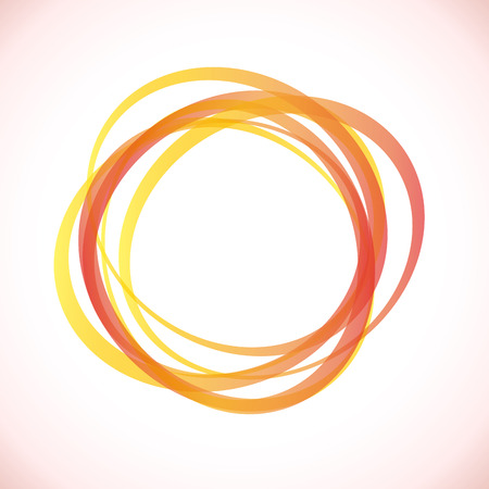 hydrocarbons: Abstract Energy Rings Background Illustration
