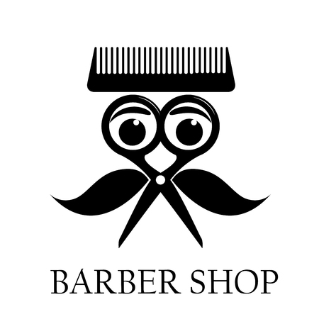 barber shop: Vector sign barber shop