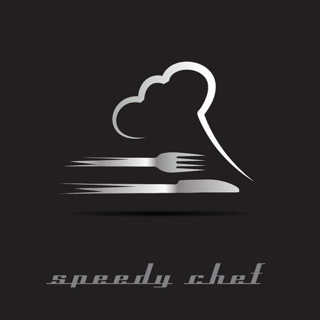 Vector Speedy Chef de cuisine Banque d'images - 55683015