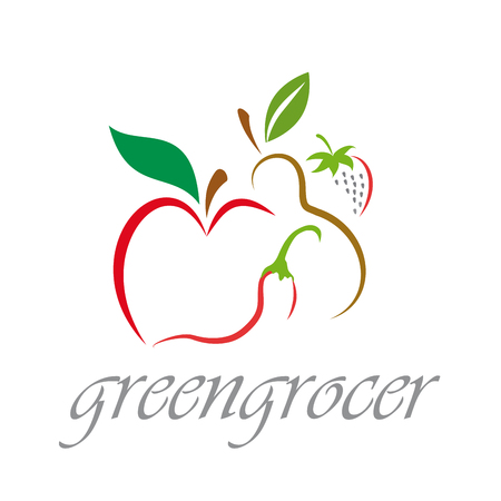 Vector sign Greengrocer