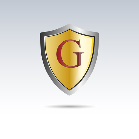 initial: Vector shield initial letter G