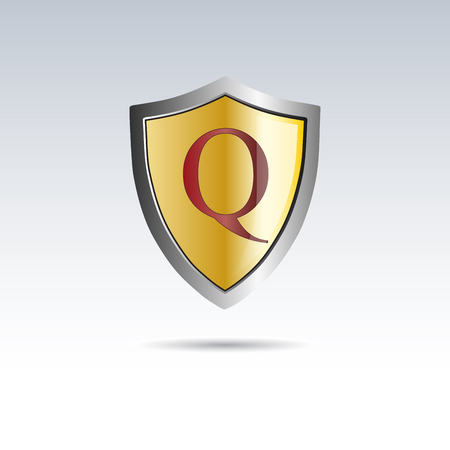 initial: Vector shield initial letter Q