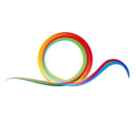 rainbow: Vector rainbow wave background
