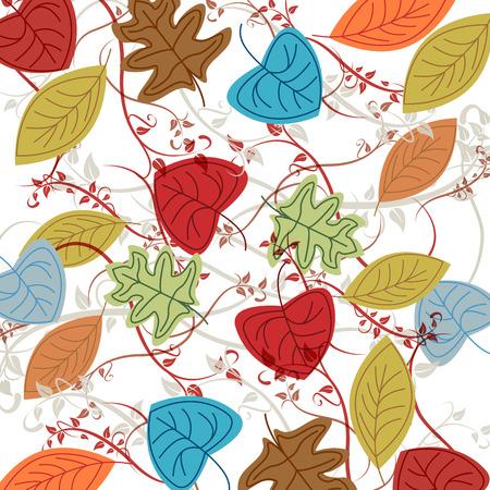 autumn background: Vector dead leaves, autumn background Illustration