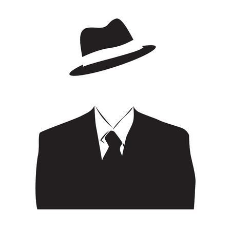 ベクトル匿名、目に見えない男  イラスト・ベクター素材