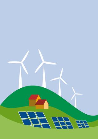 green power: Vector sustainable development background Illustration