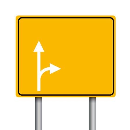 Lege gele verkeersborden