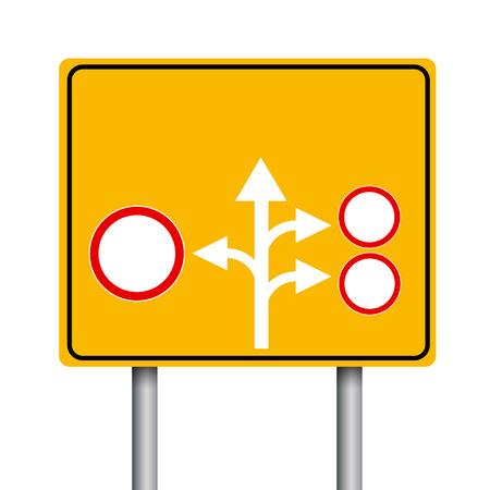 flechas direccion: Vaciar las señales de tráfico amarillas