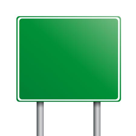 lege groene verkeersborden