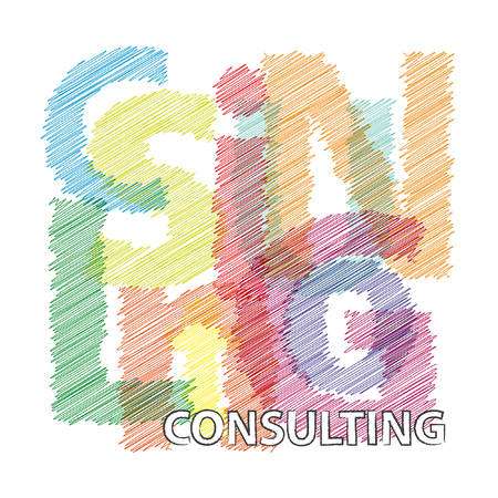 questioned: Vector consulting. Broken text scrawled