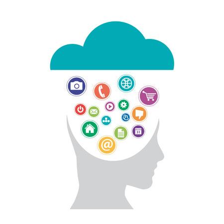 Vector Cloud computing en mobiliteitsconcept