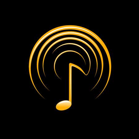 vector de la música y la onda de sonido