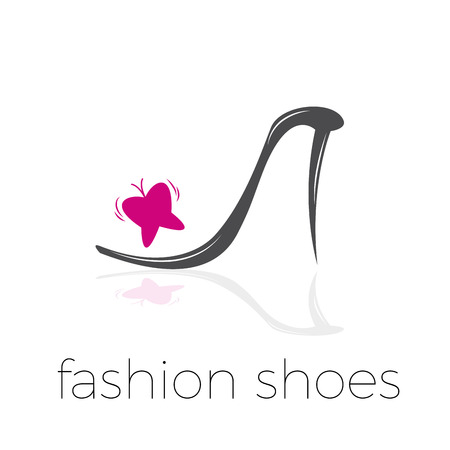 fashion shoes: Vector abstract fresh shoes with butterfly