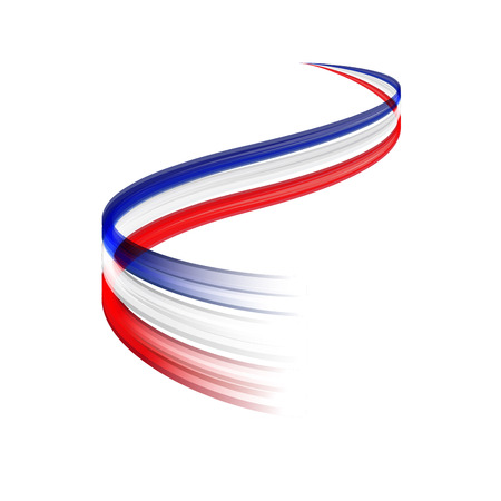 economic recovery: Abstract vector wake moving, dynamic french or english flag concept Illustration