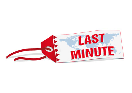 last minute: Vector label last minute