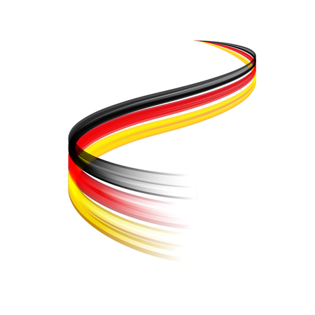 economic recovery: Abstract vector wake moving, dynamic german flag concept