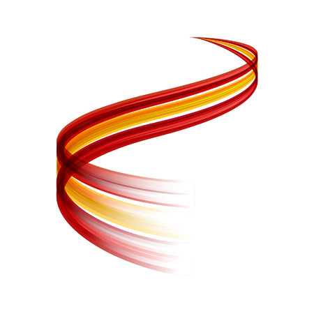 Abstract vector wake moving, dynamic spanish flag concept