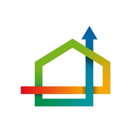 Wektor koncepcja Klimatyzacja dla domu Ilustracje wektorowe