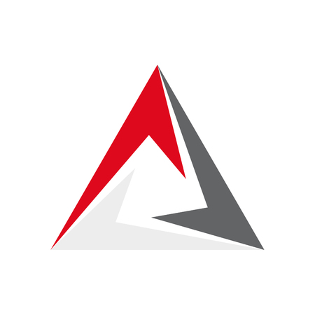 perfection: Vector abstract triangle, three arrow