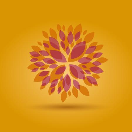 秋花のベクトルの背景
